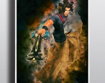 Terra Kingdom Hearts Poster, Kingdom Hearts Print, Sora, Keyblade, Game Premium Photo Paper, Big Sizes, Print no.225