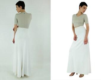 AZZEDINE ALAIA Stretch-knit Maxi Skirt