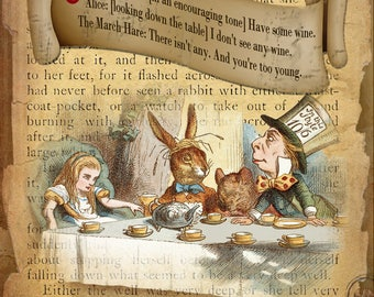 Alice In Wonderland The March Hare Retro Style Wall Metal Sign Plaque Home Decor Lovely Gift