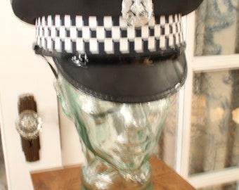 Vintage British Police Officer Hat