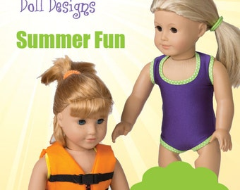 Too Cute Doll Designs SUMMER 2016 - Sewing Newsletter for 18 Inch Dolls