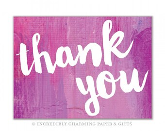 Watercolor Thank You Notes, Calligraphy Note Cards, Cute Note Cards, Chic Thank You Notes, Classic Thank Yous, Stationery