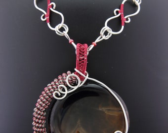 Tourmaline Gemstone with Delicate Wire Wrapping