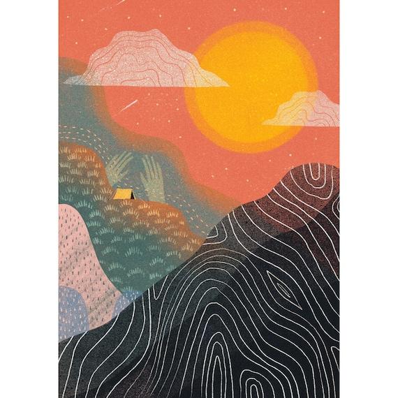 Sunset Landscape - Signed print