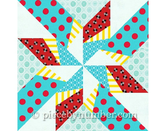 Dancing Arrows Star Quilt Block Pattern Paper Pieced Quilt Patterns