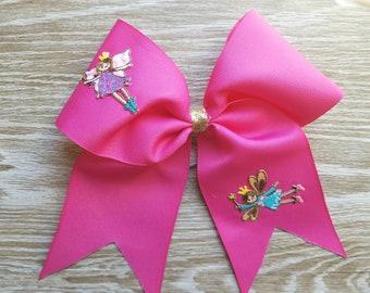 Hot pink fairy hair bow