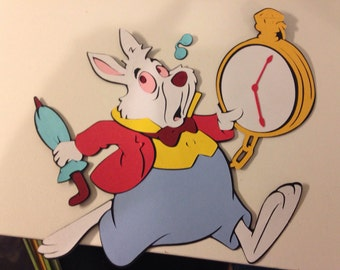White Rabbit Die cut from Alice in Wonderland