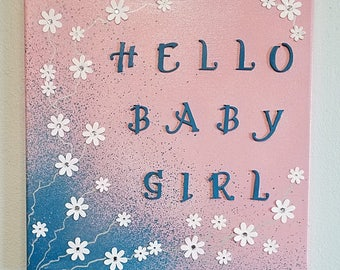 Baby Girls room original artwork