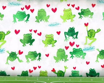 Happy Frogs & hearts,Timeless Treasures