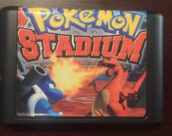 Pokemon Stadium Fan Made Custom Sega Genesis Game. 16bit