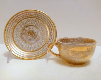 Stangl Antique Gold Cup and Saucer  #1902