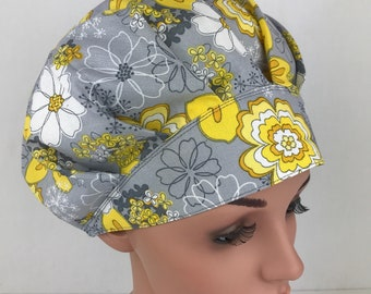 Bouffant Scrub Hats Scrub Caps Chemo Cap, Surgical Tech Scrub Hat Scrub hats for Women Surgical Cap