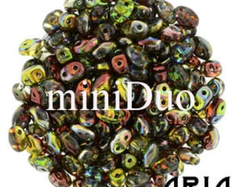 MAGIC APPLE: MiniDuo Two-Hole Czech Glass Seed Beads, 2x4mm (10 grams)