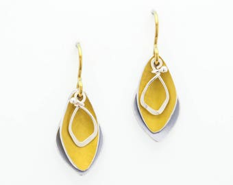 Anodized Aluminum Earrings – Sunbeam Shadows Collection by Mandy Allen