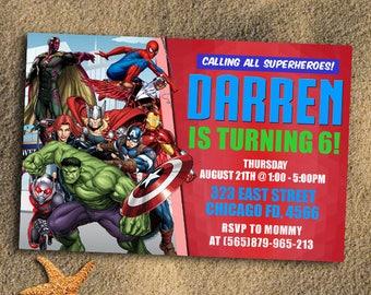 Avengers,Avengers Birthday Invitation,Avengers Birthday,Avengers Invitation,Avengers Party,Avengers Birthday Party,Superhero,Superhero Card