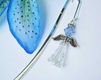 Crystal Angel Bookmark Sapphire Blue Angel Book Marker