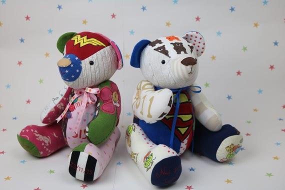 Speicher-Bär-Muster geschrieben Andenken Teddybär