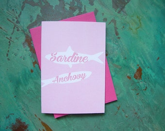 sardine & anchovy note card