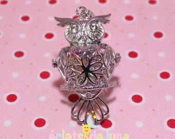 Metal cage silver OWL shape Bola Harmonyball 55 / 29mm