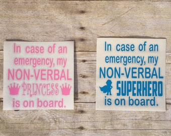 Non-Verbal Child Decal