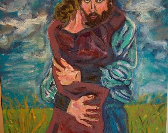 Modern Painting The Embrace, Print
