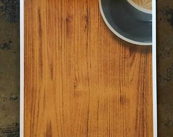 Coffee Counter screenprinted coffee art print