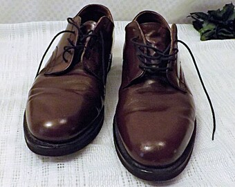 Vintage Hanover Shoes  Brown Leather Dress Shoes Size  14
