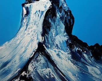 The Matterhorn. Oil on canvas. Size 60 by 40cm.