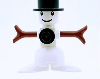 Snowman Minifigure, Made From LEGO Parts