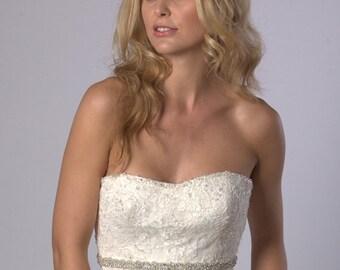 Sparkly crystal rhinestone wedding dress belt
