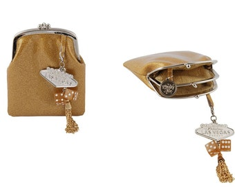 Couture Vintage Car inspired Handbag. Handmade in the USA- Pinky Lee- Gold Digger