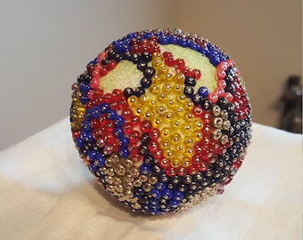 Colorful Decorative Beaded Ball