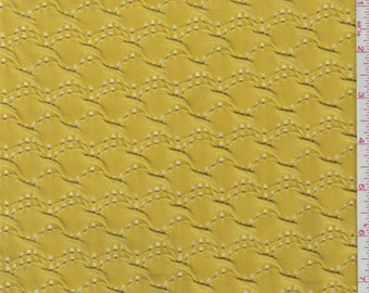Yellow Gold Puckered Novelty Knit, Fabric By The Yard