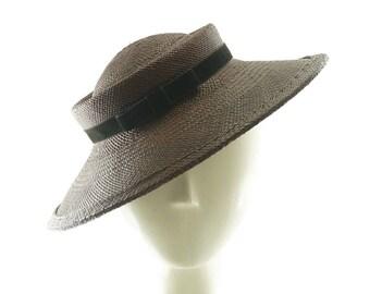 Kentucky Derby Hat, Straw Hat, Mother of the Bride Hat, Wedding Hat, Derby Hat, 1940s Fashion Hat, Ascot Hat, Skimmer Hat, Straw Boater Hat