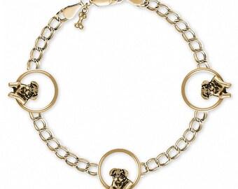 Pug Bracelet Jewelry 14k Gold Handmade Dog Bracelet PG46-BRG