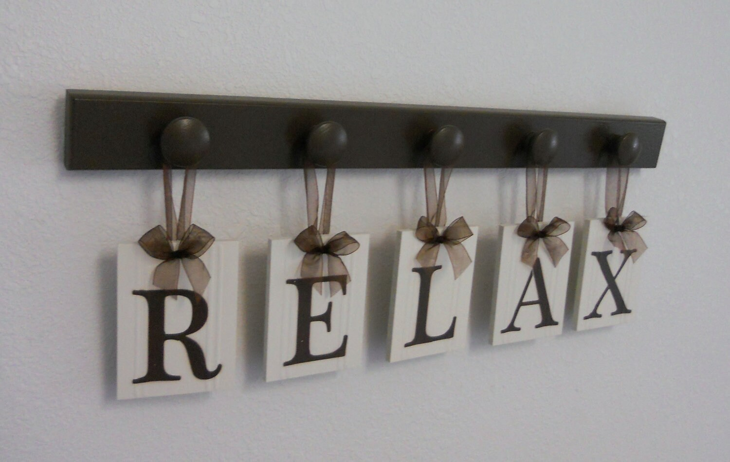 Relax Sign Wall Words Personalized Hanging Letters