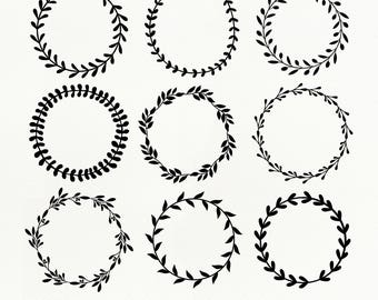 Laurel Wreath SVG Files, Laurel Wreath dxf, png, eps for Silhouette Studio & Cricut, Cut File, Flower