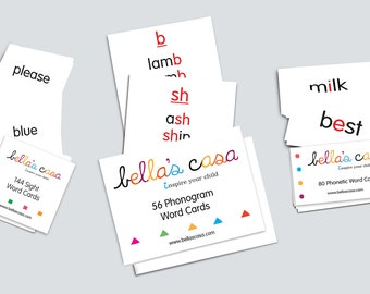 The Little Linguist Reading Set -Montessori reading phonetic, sight words and phonograms-homeschooling materials- pdf
