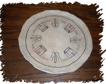 Prim Home Candle Mat