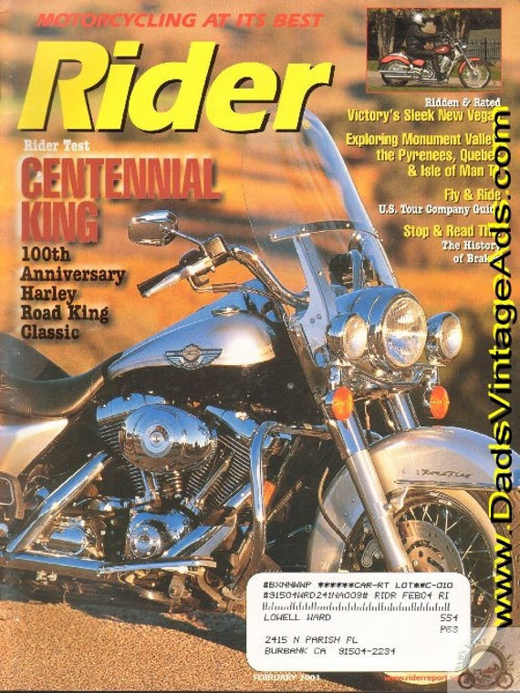 2003 February Rider Motorcycle Magazine Back-Issue #0302rdr