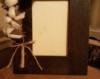 Cotton stem picture frame