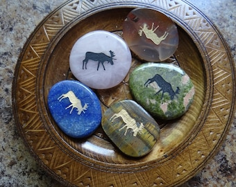 MOOSE Gemstone Animal Spirit Totem for Spiritual Jewelry or Crafts