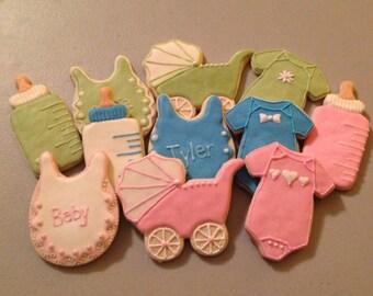 Baby Themed Sugar Cookies