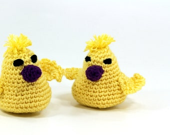 Yellow Bird Pattern Marshmallow Peeps PDF Pattern, Crochet Bird Pattern, Easter Home Decor