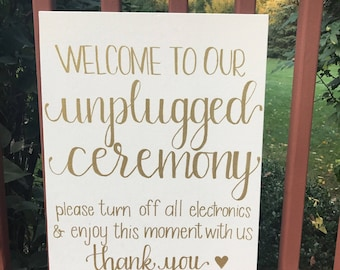 Welcome to Our Unplugged Ceremony