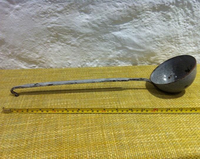 Vintage Enamel trowel accessoires kitchen decor garden decoration shabby chic
