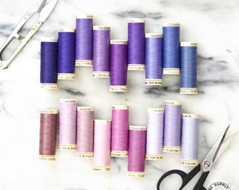 Gutermann Threads - 100% Polyester Made in Germany - Purples & Pinks (100m)