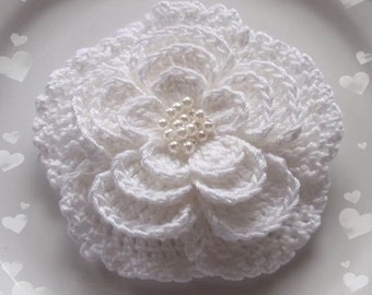 Larger Crochet Flower In 3 inches YH-024-02