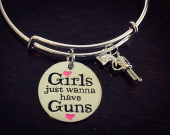 Girls just wanna have guns expandable bracelet