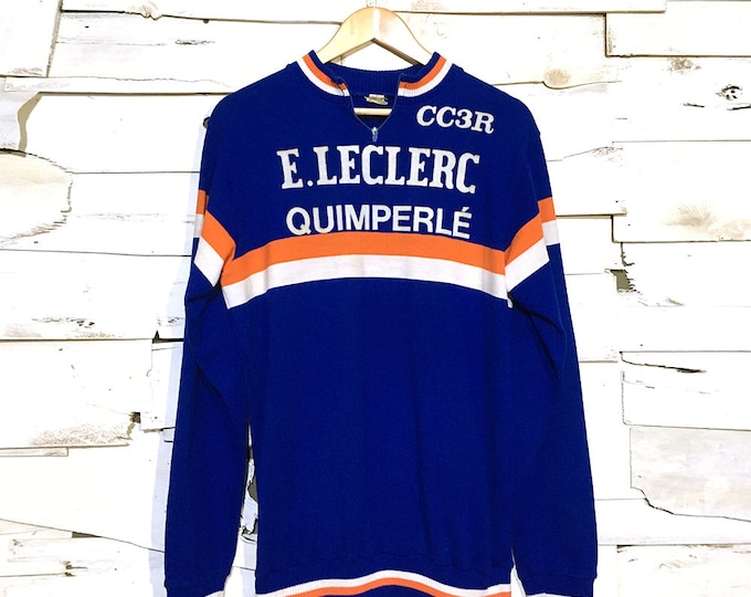 Vintage 1960's European Cycling Jersey Shirt - Medium